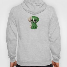 Cute Puppy Dog with flag of Pakistan Hoody