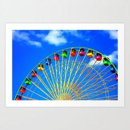Colorful Ferris Wheel Art Print