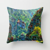 peru Throw Pillows featuring Ceti Peru by Bunny Clarke