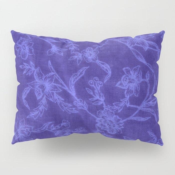 Flower Pattern (Blue version) Pillow Sham