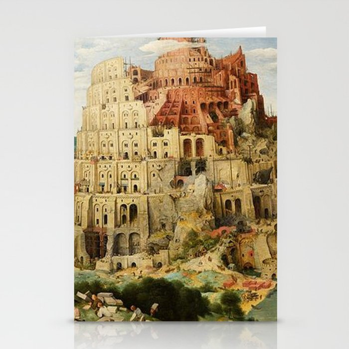 Tower Of Babel Pieter Bruegel The Elder Stationery Cards By Historystuff Society6