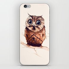 Owl in the snow iPhone & iPod Skin