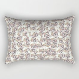 Giant money background 50 pound notes / 3D render of thousands of 50 pound notes Rectangular Pillow