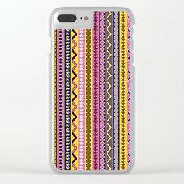 Fancy stripes Clear iPhone Case
