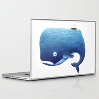 moby Laptop & iPad Skins featuring Moby Dick by Arianna Usai