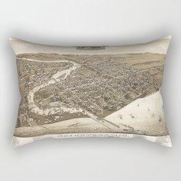 Aerial View of Sheboygan, Wisconsin (1885) Rectangular Pillow