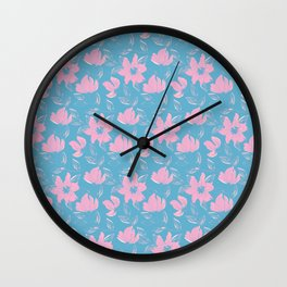 Watercolour Lilies VII Wall Clock