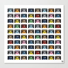 80 Rainbow Tapes Canvas Print