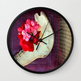 Bones n Begonias n Beautiful Burlap n... Wall Clock