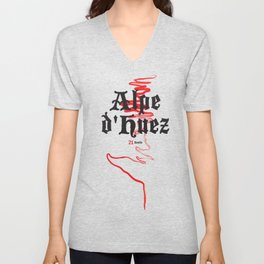 Famous Climbs: Alpe d'Huez 2, Old World Unisex V-Neck