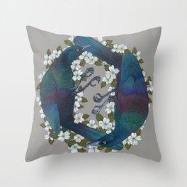 Grackels Throw Pillow