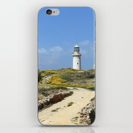 Lighthouse in Paphos iPhone Skin