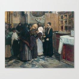 Joaquín Sorolla , Kissing the Relic Canvas Print