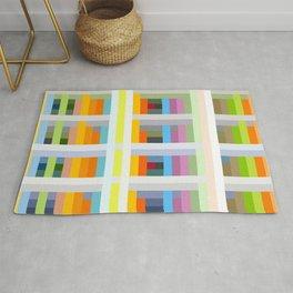 colorful geometric pattern design Negret Rug
