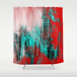 Intense Red And Blue Shower Curtain