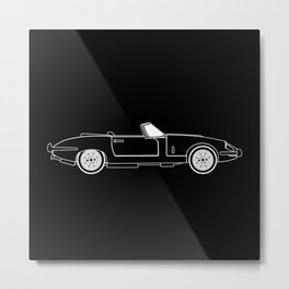 Classic Super Fast Sports Car Outline Metal Print