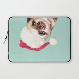 Santa Sneaky Baby Sloth Laptop Sleeve