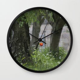 Lonely Tulip Wall Clock