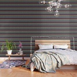 """""""Blue lines burlap"""" Wallpaper"""