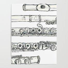 Flöte Poster