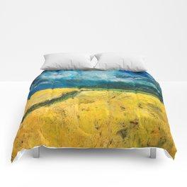 Yellow Fields Comforters