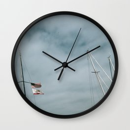 Mast and Flags Wall Clock