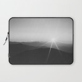 Sun on the Hill (Black and White) Laptop Sleeve