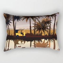 Allepey backwaters ft. Tuktuk Rectangular Pillow