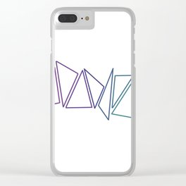 Trangles Clear iPhone Case