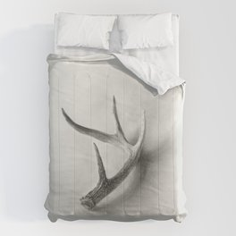 Lost and Found - Deer Antler Pencil Drawing Comforters