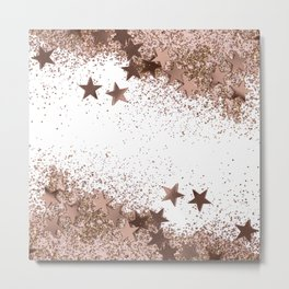 SHAKY STARS ROSEGOLD Metal Print