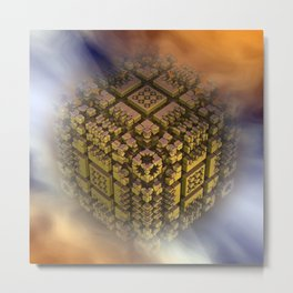 the floating cube Metal Print