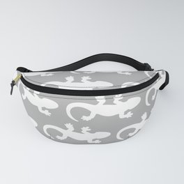 Whtie and Grey Lizard Fanny Pack
