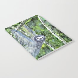 Sloth - alcohol ink Notebook
