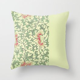 Shabby Spring 1:  Various Vintage Prints to Mix and Match in Yellow, Pink, and Green Throw Pillow