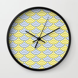 circles_yellow&blue Wall Clock