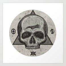Skull & symbols Art Print