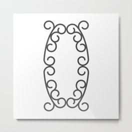 "Letter ""O"" in beautiful design Fashion Modern Style Metal Print"