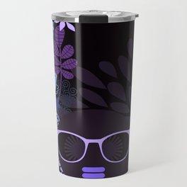 Afro Diva : Sophisticated Lady Purple Lavender Travel Mug