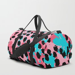 Cheetah Spots in Soft Pink and Blue Duffle Bag