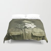 film Duvet Covers featuring Sgt. Stormley  by Terry Fan