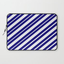 TEAM COLORS 1...Blue and white Laptop Sleeve