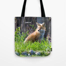 Foxy in the Morning Tote Bag