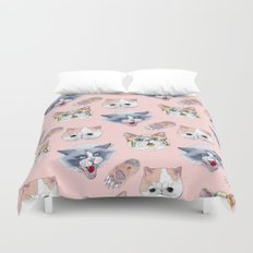 Cat Attack Duvet Cover