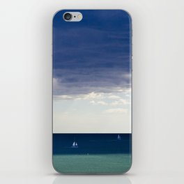 Sailing in the blue iPhone Skin