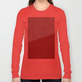 Concrete with Chili Oil Color Long Sleeve T-shirt