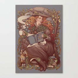 NOUVEAU FOLK WITCH Canvas Print