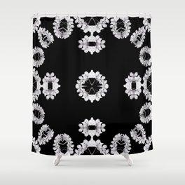 Gray Wildflowers frame Shower Curtain