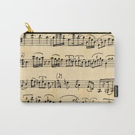 Antique Music Notes Carry-All Pouch