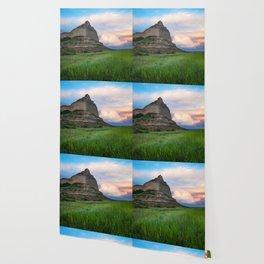 Scottsbluff - Landscape in Evening Light in Western Nebraska Wallpaper